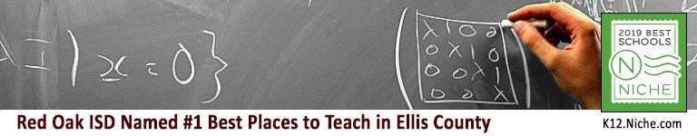 Red Oak ISD named the #1 Best Place to Teach in Ellis County
