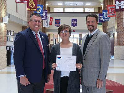 National Merit Finalist with administrators
