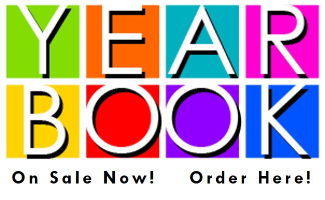 SIGN WITH COLORFUL WORDS YEARBOOK ORDERS