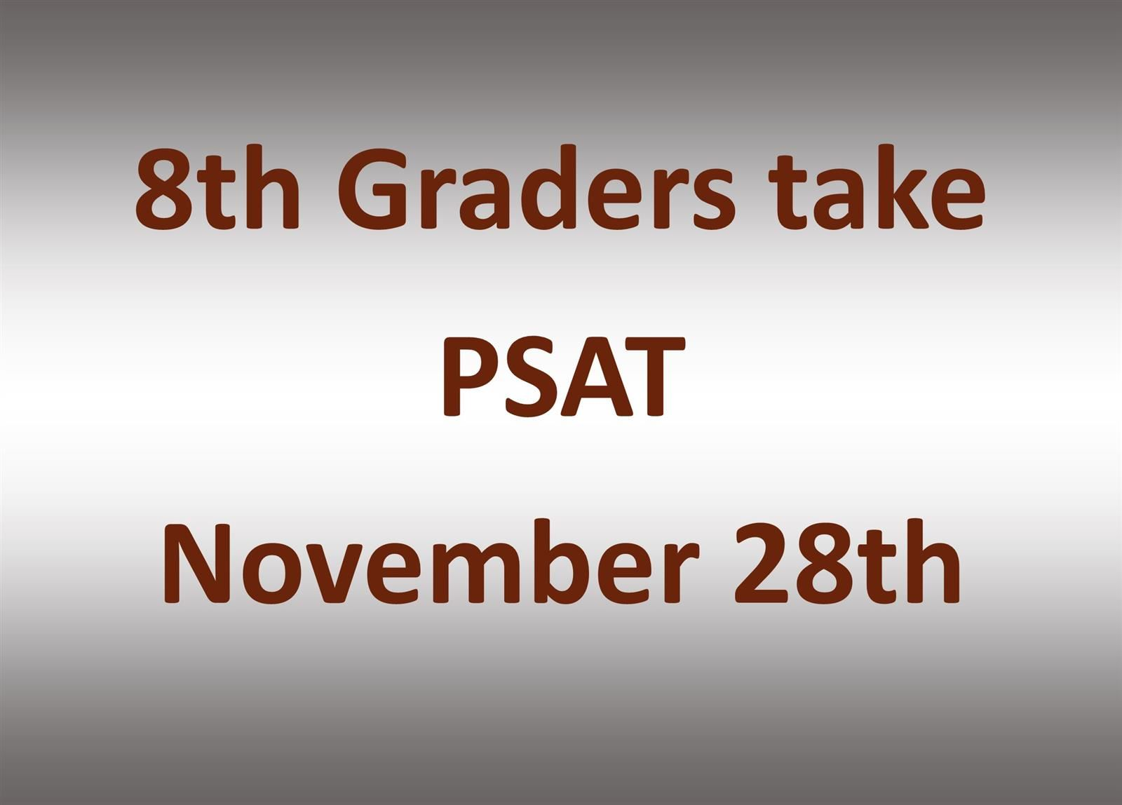 PSAT Testing Picture