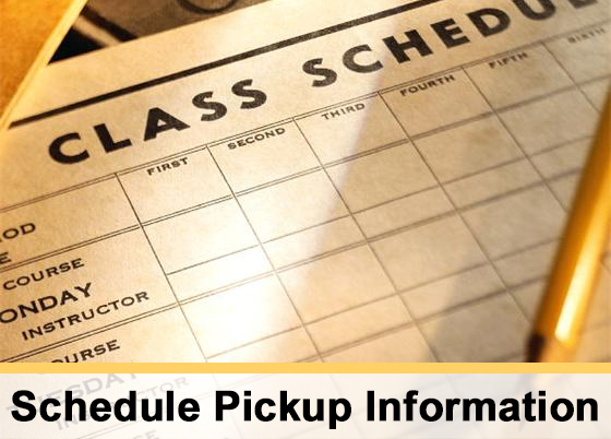 Schedule Pickup Information for ROMS