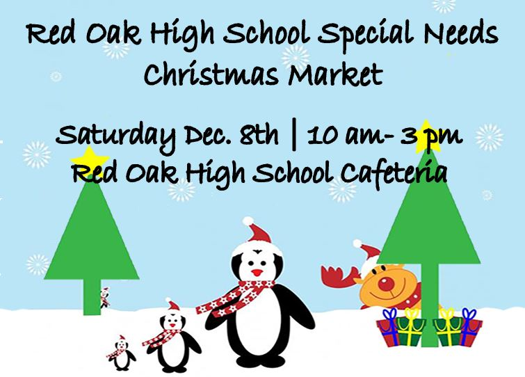 ROHS Special Needs Christmas Market on Dec. 8 from 10 am to 3 pm at the High School Cafeteria