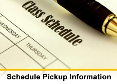 Schedule pickup information for ROHS