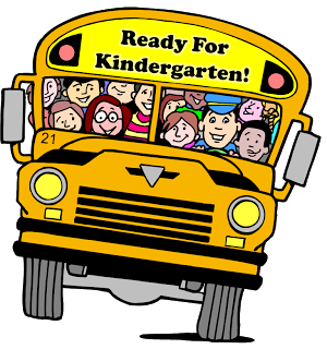 School bus with sign Ready for Kindergarten