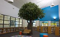 interior of Learning Commons at Schupmann Elementary
