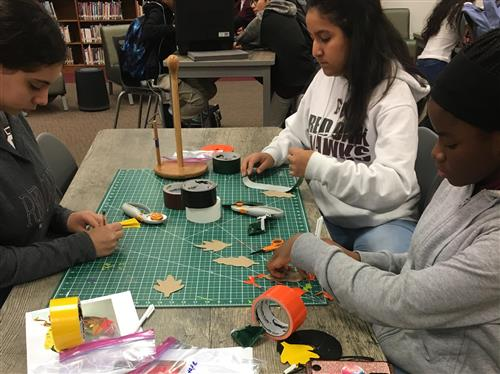 Picture of Duct tape design with students