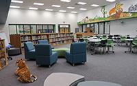 interior of Learning Commons at Wooden