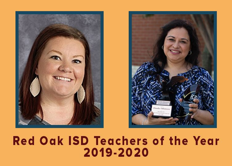 Red Oak ISD Teachers of the Year for 2019-2020