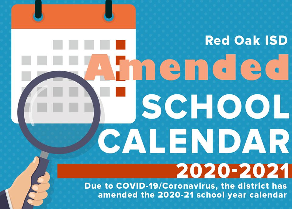 ROISD Amended School Calendar for 2020-2021 due to COVID-19