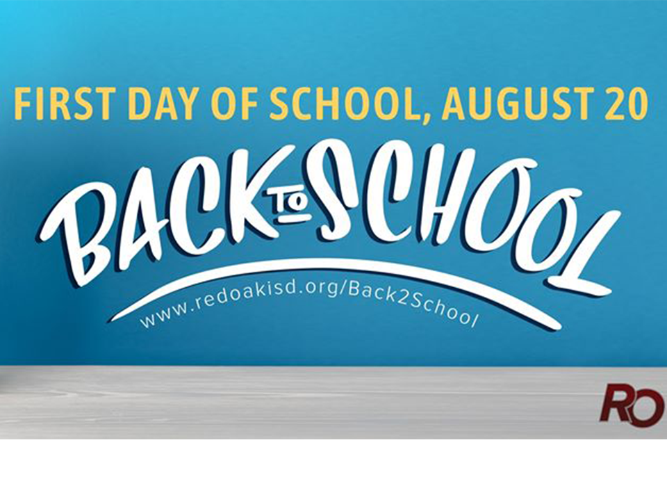 First Day of School will be August 20, 2020-Back to School