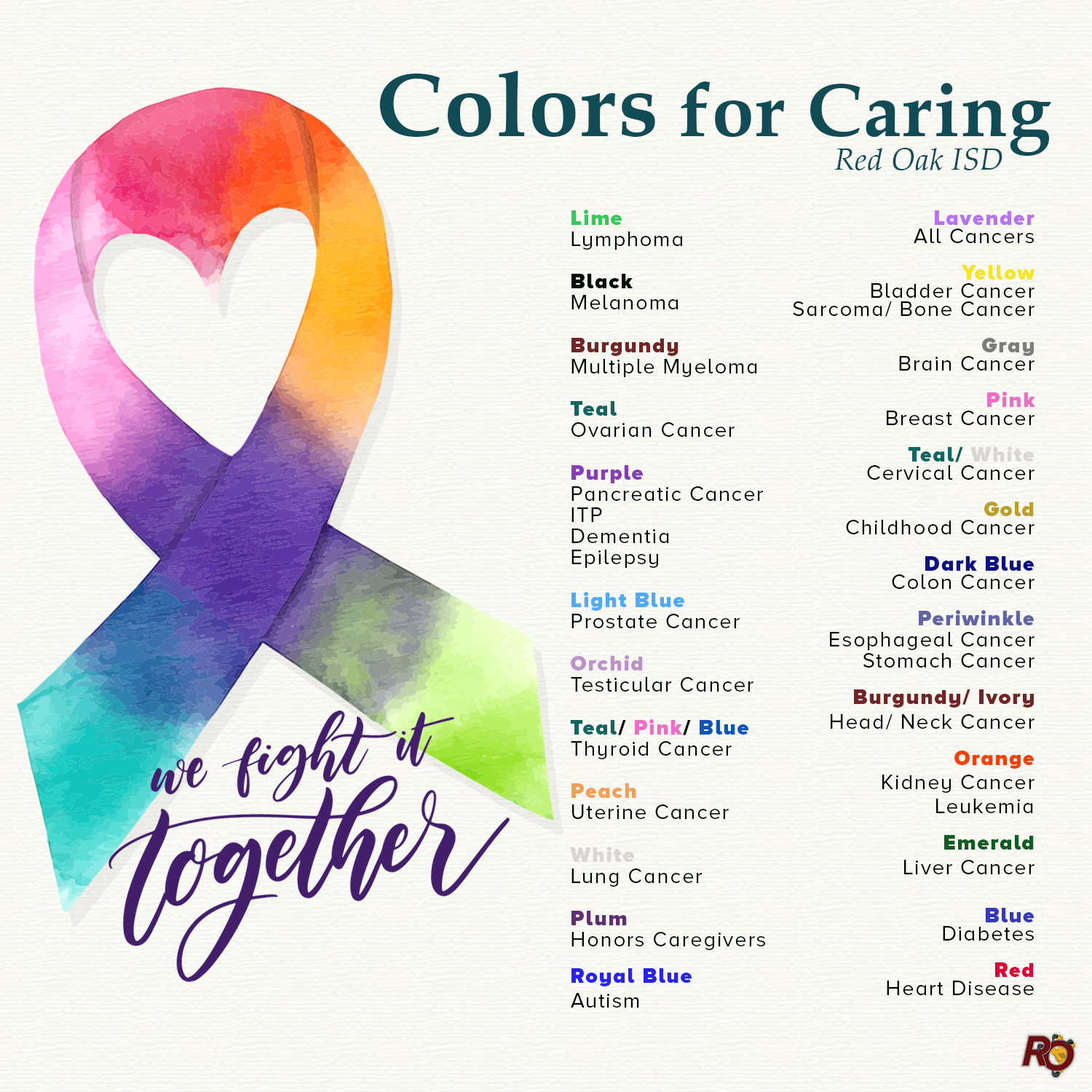 Red Oak Isd Colors For Caring