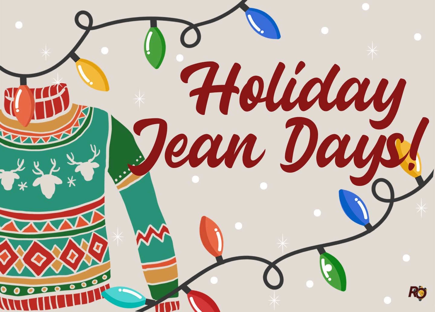 Holiday Jean Days from Dec. 13 - 20