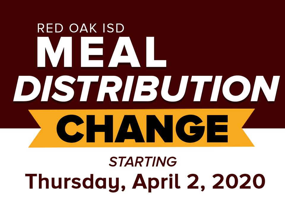 ROISD Meal Distribution Changes starting Thursday, April 2, 2020