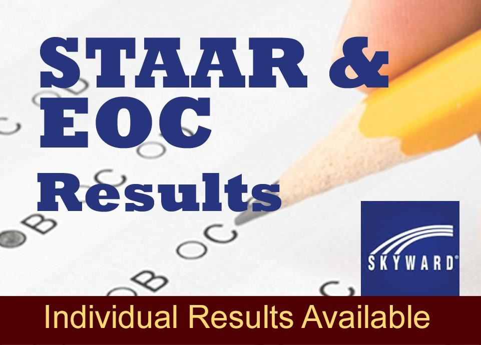 STAAR & EOC individual test results are available