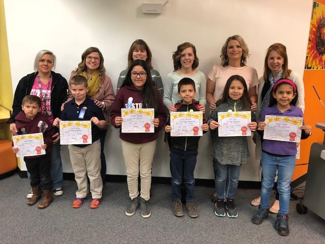 Eastridge's February Students of the Month