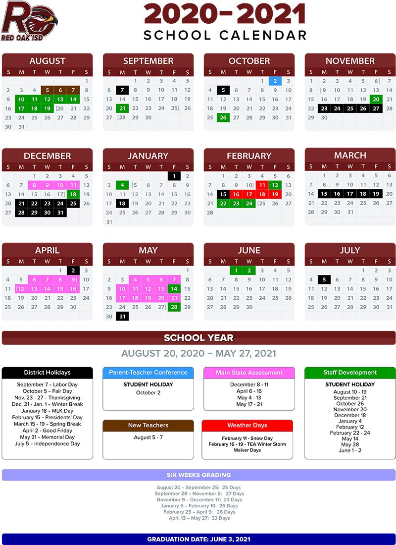 Ecisd Calendar 2022.2020 2021 School Calendar Annual Calendar 2020 2021