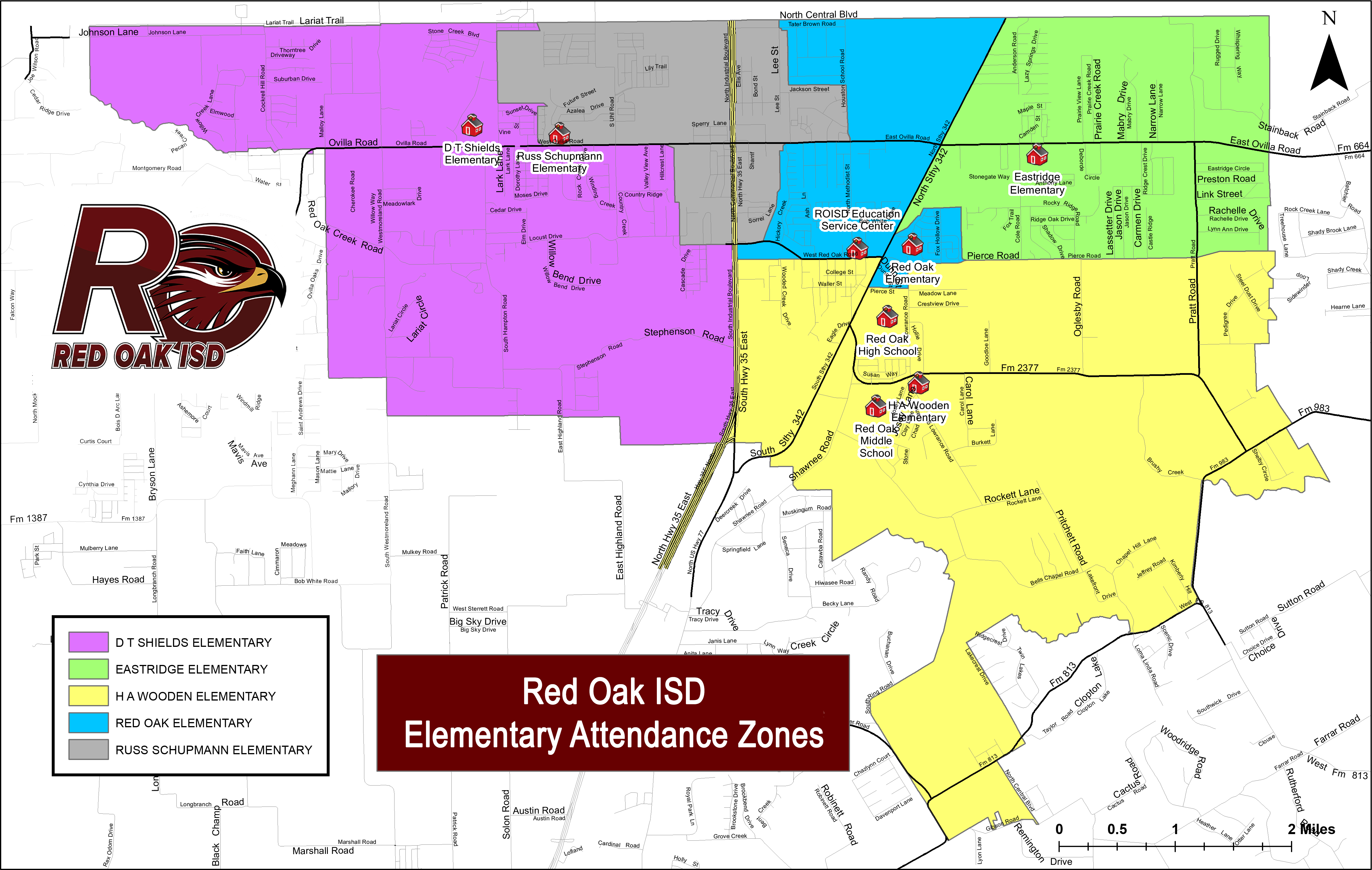 ROISD Attendance Zone map
