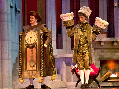 Beauty and the Beast Musical performers in costumes