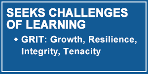 Talon 2-Seeks Opportunities and Challenges of Learning through GRIT: Growth, Resilience, Integrity, Tenacity