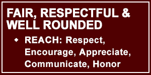 Talon 3 is Fair, Respectful and Well Rounded via REACH: Respect, Encourage, Appreciate, Communicate, Honor
