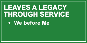 Talon 4-Leaves a Legacy through Service by putting We before Me